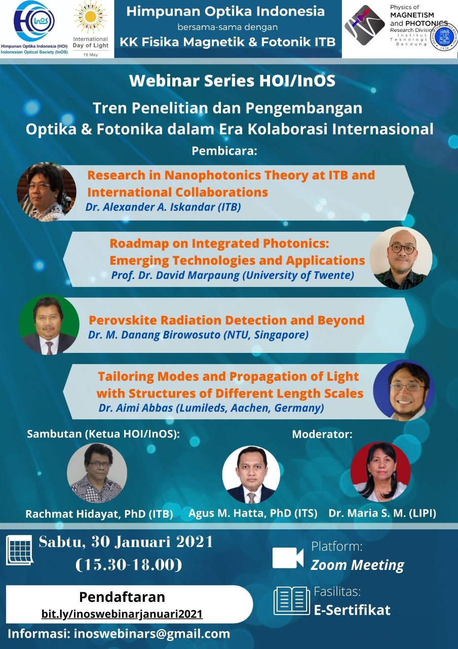 Webinar Jan 2021 - Himpunan Optik Indonesia & KK FMF ITB